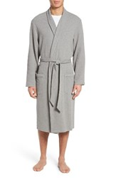 Nordstrom Men's Men's Shop Thermal Robe Light Heather Grey