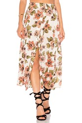 Amuse Society Bombay Maxi Skirt White