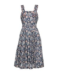 Maison Kitsune 3 4 Length Dresses Blue