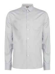 Linea Ryan Double Oxford Long Sleeve Shirt Grey