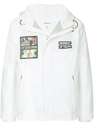 Makavelic Jesus Mountain Parka Jacket White