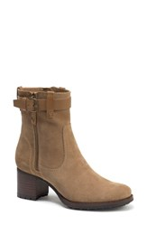 Trask Madison Waterproof Bootie Taupe Suede