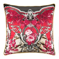 Roberto Cavalli Savage Silk Cushion Red