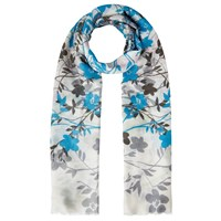Lola Rose Silhouette Blossom Scarf Turquoise