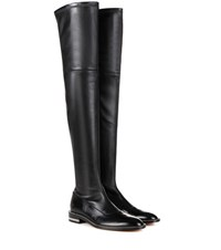 Givenchy Embellished Over The Knee Leather Boots Black