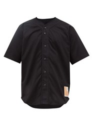 Rag And Bone Flag Patch Cotton Jersey Shirt Black
