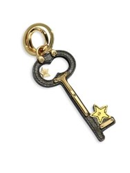 Prada Leather Star Key Charm Military Caramel