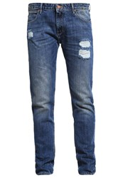 Wrangler Relaxed Fit Jeans Blue Destroyed Denim