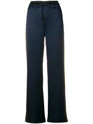 Tommy Hilfiger Striped Panel Track Trousers Black
