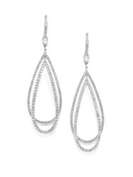 Kwiat Echo Diamond And 18K White Gold Teardrop Earrings