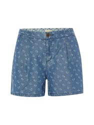 White Stuff Flower Dot Short Denim