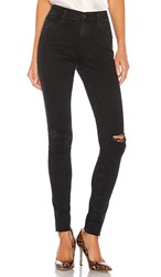 Ag Adriano Goldschmied Farrah Skinny. Altered Black Destructed