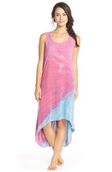 Women's Hard Tail Tie Dye High Low Racerback Tank Dress