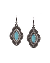 Armenta Iris Turquoise Moonstone And Diamond Drop Earrings