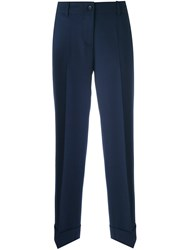 Alberto Biani Tailored Cropped Trousers Blue