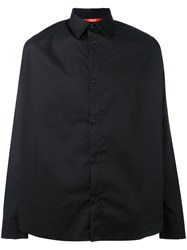 Hood By Air Back Print Shirt Unisex Cotton Polyester Xs Black