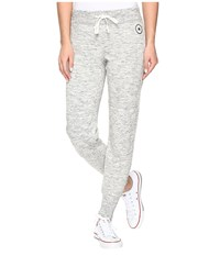 Converse Quilted Fleece Pants Snow Heather Women's Casual Pants Gray