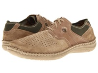 Josef Seibel Jenson 01 Dark Nude Olive Men's Lace Up Casual Shoes Brown