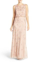 Adrianna Papell Petite Women's Embellished Blouson Gown