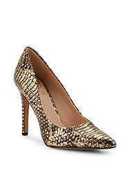Vince Camuto Kain Leather Pumps Gold Brown