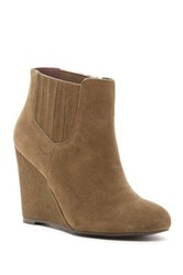 Restricted Westgate Suede Wedge Bootie Green