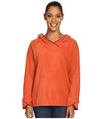 Royal Robbins Foxtail Fleece Hoodie Canyon Clay Women's Sweatshirt Orange