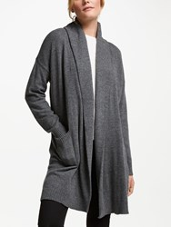 Ralph Lauren Rhohini Long Sleeve Cardigan Shadow Grey Heather