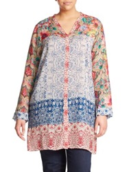 Johnny Was Plus Size Printed Long Tunic Multi
