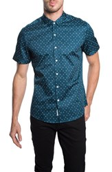 7 Diamonds Men's 'Prerunner' Trim Fit Diamond Short Sleeve Woven Shirt