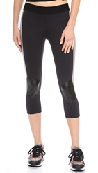 Heroine Sport Cycling Capri Leggings Gunmetal Black