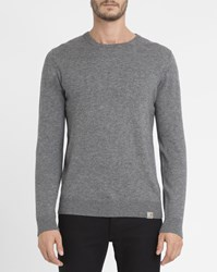 Carhartt Dark Grey Brushed Playoff Wool Knit Round Neck Jumper