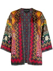 Etro All Over Print Cape Red