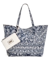 Styleandco. Style Co. Clean Cut Canvas Reversible Tote With Wristlet Only At Macy's Paisley Garden