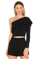 Milly Flounce Top Black
