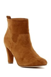 Sole Society Laurel Slightly Slouchy Bootie Brown