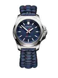 Victorinox I.N.O.X. Paracord Bracelet Analog Watch Navy