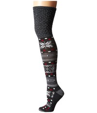 Smartwool Fiesta Flurry Medium Gray Women's Knee High Socks Shoes White