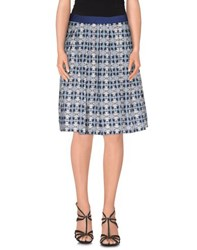 Tela Skirts Knee Length Skirts Women Blue
