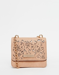 Carvela Cross Body Bag With Floral Cut Out Nuderosegold