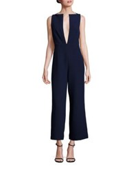 Solace London Kote Plunge Neck Jumpsuit Navy