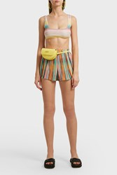 Missoni Striped Crochet Knit Shorts