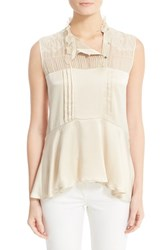 Belstaff Women's Julie Pintuck Silk Sleeveless Blouse