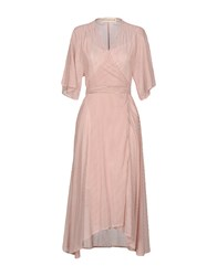 Shirtaporter 3 4 Length Dresses Skin Color