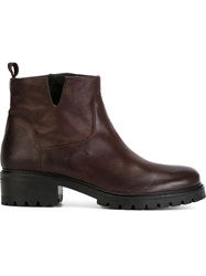 P.A.R.O.S.H. 'Winny Shoe' Ankle Boots Brown