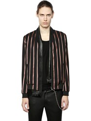 The Kooples Striped Techno Jacquard Bomber Jacket