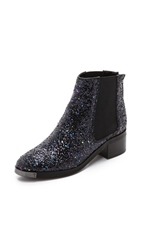 Kg By Kurt Geiger Shadow Glitter Booties Navy