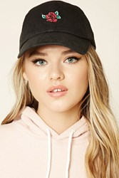 Forever 21 Rose Embroidered Dad Cap