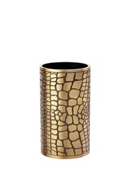 L'objet Embossed Brass Vase Pen Holder Gold Black