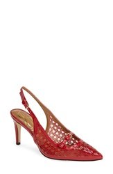 J. Renee 'Lidea' Pointy Toe Slingback Pump Women Red