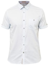 Ted Baker Newcool Short Sleeve Shirt Light Blue